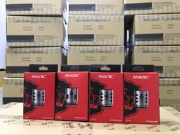 Wholesale Coil Head Core - %original SMOK TFV12 Prince Cloud Beast Coil Head Replacement V12 Q4 X6 T10 M4 Coils Massive Vapor Vape Core Tank 100% Authentic