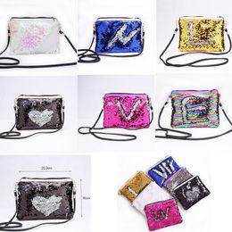 Волшебный кошелек кошелек онлайн-6 цветов Русалка блестки конверт сумки на ремне магия обратимым блестками монета Кошелек кошелек путешествия партии Crossbody сумка для хранения сумки GGA752