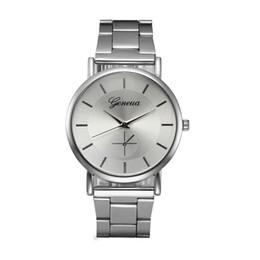 женва часы женщины серебристый Скидка  Watch Women Watches Geneva Stainless Steel Clock Silver Analog Bracelet Quartz Watch