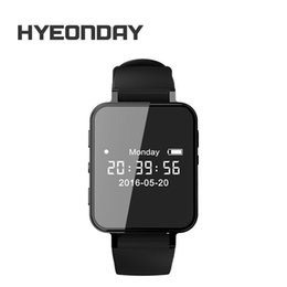 Wholesale Mini Mp3 Digital Voice Recorder - Digital Voice Recorder Watch Audio Recorder T200 Dictaphone Sport Wearable Wrist band Pedometer Waterproof 8G Recording Mini MP3