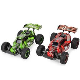 2019 caminhões de brinquedo vermelho JD-2610B 1/16 2.4G 4WD RC Carro de Corrida de Alta Velocidade Off-Road Truck Buggy Vermelho / Verde Eletrônico RC Brinquedos Inteligentes Para As Crianças caminhões de brinquedo vermelho barato