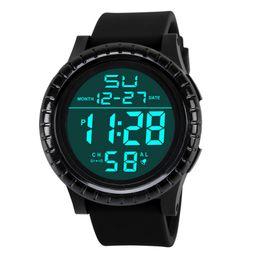 Wholesale led digital countdown timer - HONHX LED Light Men's Child Watches Digital Date Countdown Timer Sport Quartz Wrist Watch Fashion Relogio Masculino Saat Gift