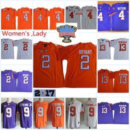 Womens NCAA ACC Clemson Tigers Kelly Bryant Football Jerseys Lady Hunter  Renfrow DeShaun Watson Travis Etienne Jr. Tigers Jersey S-2XL 140cdd355