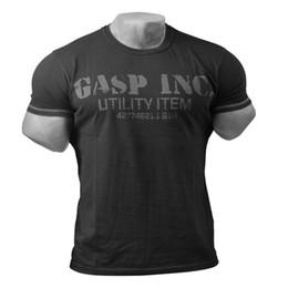 Medias musculosas online-2018 verano nuevo músculo fitness hombres fitness algodón camiseta culturismo casual de manga corta sudadera pullover