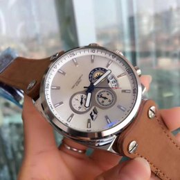Wholesale Rs 15 - New 2018 Luxury Brand Tag Automatic Watch F1 Calibre 16 15 17 36 RS Men White Dial Stopwatch date leather strap Band Montre Homme AAA