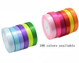 100 mètres / lot 5/8 '' 16mm 100% polyester double face ruban de satin couleur ruban de satin couleur pour cadeau cheveux arcs vêtements de ruban Accessoires ? partir de fabricateur