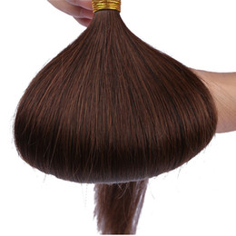 Прямо Я Совет наращивание волос Индийский необработанные человеческие волосы девственницы палку я Совет волос 1 г прядь 100 г-легко cheap virgin sticks от Поставщики девственные палочки