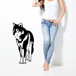 Wholesale Cartoon Dog Wall Decals - Dog Husky Cartoon Wall Sticker Bedroom Living Room Children'S Room Stickers DIY Personality Wall Decal Art Stickers Waterproof