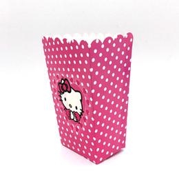 6 шт. / лот попкорн Кубок коробка мультфильм Hello kitty тема с Днем Рождения попкорн конфеты коробка для детей пользу подарок от