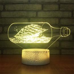 Lampada da tavolo della batteria principale online-Lampada da illusione per lampade da tavolo a LED 3D di nuova progettazione DC 5V alimentata a batteria con batteria AA