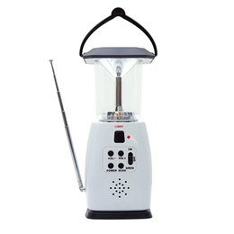 Multi-functional 4-way Powered Solar Hand Crank LED Camping Lantern with Radio and Emergency Cell Phone Charger от