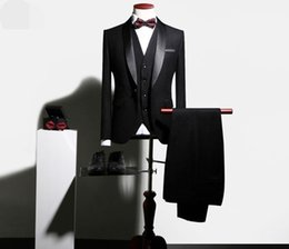 Wholesale Private Single - High-end private custohigh qualityNew men's suits, suits, three piece suits, Korean wedding dress, groom, best man, business casual banquet.