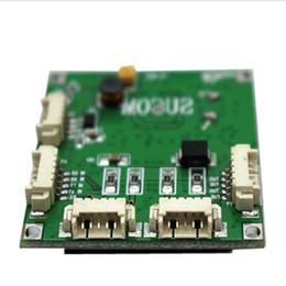 OEM PBC module de commutation carte mère trou de vis personnalisé OEM taille mini 4 ports commutateurs de réseau Carte de circuit imprimé mini Ethernet 10/100 Mbps OEM / ODM ? partir de fabricateur