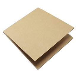 Wholesale Dvd Envelopes - DHL 150Pcs lot Blank Kraft CD Paper Case Wedding Birthday Party Brown Envelopes Natural Plain Gift Disc CD DVD Package Paper Bag