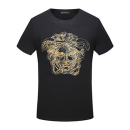 Wholesale designer casual shirts for women - fashion italy for men T-shirt Designer luxury Brand 2018 summer embroidery medusa print letter t shirt Tee women Casual Top tshirt