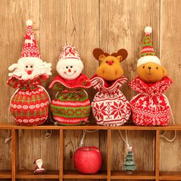Poupées tricotées en Ligne-Tricoté Tissu Laine Poupée Sac De Pomme Décorations De Noël Enfants Cadeaux De Vacances Sacs À Bonbons En Trois Dimensions Cordon De Poche 7 5mg Ff