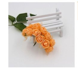 Одноцветные розовые розы онлайн-Оптовая головка цветка 2.5 см поддельные шелк один реальный сенсорный гортензии 11 цветов роза для свадьбы центральные главная партия декоративные цветы