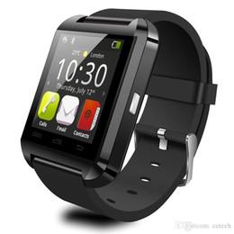 teléfonos firefox Rebajas U8 Reloj SmartWatch Pantalla táctil Reloj de pulsera para iPhone Samsung HTC LG Huawei Teléfono celular Android Smartphones Respuesta y marca Drop Shipping