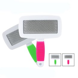 Wholesale Hot Dogs For Wholesale - Wave 14cm Non Slip Handle Dog Combs Puppy Grooming Dense Point Brushes For Pets Hair Silky Supplies Rakes Hot Sale 3 2tt Z