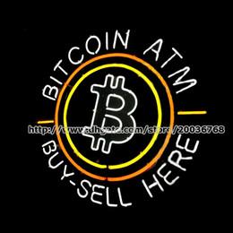 assinar empresas Desconto Bitcoin ATM Buy-Sell Aqui Personalizado Artesanal Tubo De Vidro Real Sinal de Néon Loja Empresa Moeda Virtual Publicidade Display Sinais de Néon 24
