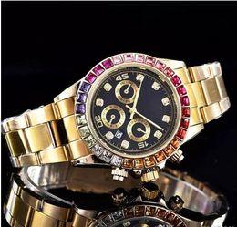 Diamantes de ginebra online-2019 relojes de lujo GINEBRA de los hombres de las mujeres de los relojes de los relojes de las señoras de la pulsera de los relojes de los relojes de 9 colores Envío libre