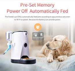Wholesale Auto Feeding - 4.0L Automatic Smart Pet Feeder Camera With Water Feeding Wireless WIFI Camera IP for Dogs&Cats Remotely Monitoring Auto Food Dispenser