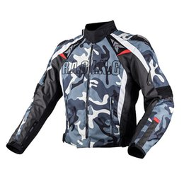 Wholesale Oxford Motorcycle Clothing - DUHAN Men's Oxford Cloth Motocross Off-Road Racing Jacket Guards Clothing Camouflage Motorcycle Alloy Shoulder Protector Jacket free shippin