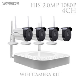 Wholesale Indoor Outdoor Surveillance System - CCTV IP Camera Wireless WiFi 4CH HD 1080P NVR System 4PCS IR Outdoor P2P IP Camera Security System Surveillance Kit