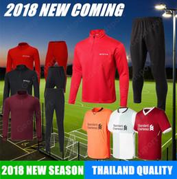 Wholesale Football Gerrard - 2018 liverpooling Football tracksuit COUTINHO GERRARD MANE FIRMINO HENDERSON STURRIDGE M SALAH jerseys soccer calcio shirts