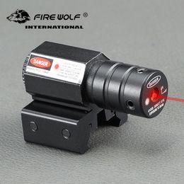 Mira de pistola on-line-LOBO DE FOGO 50-100 Metros de Distância 635-655nm Red Dot Laser Sight Para Pistola Ajustar 11mm20mm Picatinny Trilho Frete Grátis
