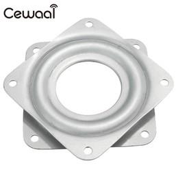 "Wholesale Tv Mount Wholesale - Cewaal 7.1x 7.1x0.9cm Stainless Material Bearing 360 degree Rotating Swivel Turntable Plate TV Rack Holder Desk TV Mounts 3"""
