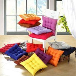 Asientos de oficina online-Almohadillas de asiento de algodón color caramelo Home Car sofá Decoración de oficina estera del amortiguador suave de la manera creativa Keep Warm Cushions 5 7kj jj