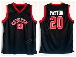 Argentina Skyline 20 Gary Payton High School Jersey hombres negro para aficionados al deporte Payton Basketball Jerseys fábrica de uniformes transpirables directamente al por mayor supplier jersey wholesales Suministro