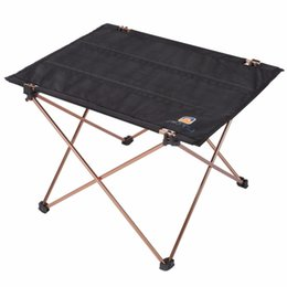 Wholesale Fabric Desk - AOTU Outdoor Picnic Folding Camping Table Foldable Table Desk Lightweight Aluminium Alloy Bracket Oxford Fabric Hot Sales