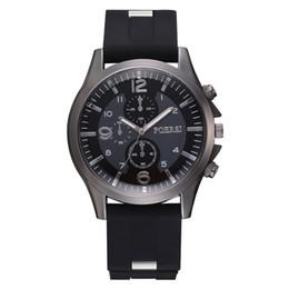 Relojes deportivos de plástico online-Susenstone Relogio Masculino Hombres Negocio Reloj Correa de Plástico Deportes Reloj de Moda Simulado Cuarzo Reloj Hombre Regalo