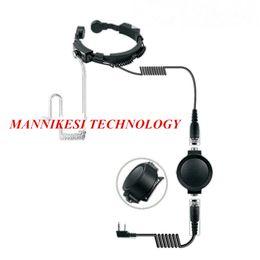 Auriculares telescópicos grandes del auricular del micrófono de la garganta del PTT Impermeable táctico militar del grado secreto para KENWOOD Baofeng UV-5R Radio desde fabricantes