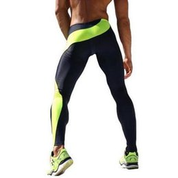 Wholesale Red Lift - Mens Sportswear Fitness Elastic Breathable Running Pants Bottom Crossfit Weight Lifting Bodybuilding Gym Skin Sport Trousers Men