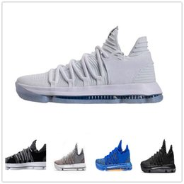 17bc4090edb Sale Kd 10 Basketball Shoes Mens Red Kevin Durant 10s BHM Oreo Triple Lmtd  City Series Features Original Shoe Sneakers