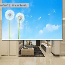 Wholesale custom installations - MOMO Blackout Dandelion Window Curtains Roller Shades Blinds Thermal Insulated Fabric Custom Size, Alice 471-474
