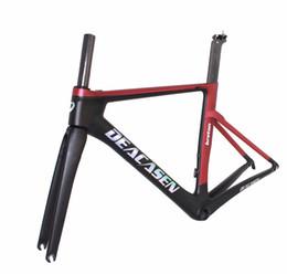 Wholesale xs frameset - 2018 DEACASEN BEST value Di2&mechanical carbon fiber bike frame bicycle frameset XS S M L aero carbon road frame free shipping