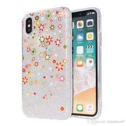 Canada 3 dans 1 couverture colorée de dessin de dos de fleur pour l'iphone X 7 8 plus Samsung S9 S8 plus avec le sac d'OPP Offre
