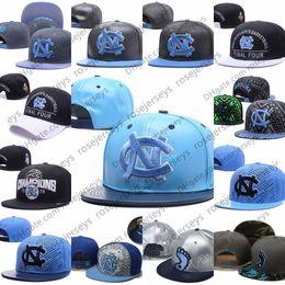 Wholesale light gray heels - NCAA North Carolina Tar Heels Caps 2018 New College Adjustable Hats All University Snapback Gray Black Light Blue White UNC Free shipping