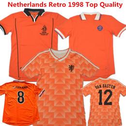 b551e8e46b1ed Camisa de futebol nostálgico de holanda holandês retro holandês 1988  comemoram tully batt van davids ovvars 98 uniforme laranja robben