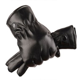 Wholesale Fashion Driving Gloves - Fashion Sale Mittens Winter Warm Gloves Driving Men's Women Leather Gloves Touch Screen