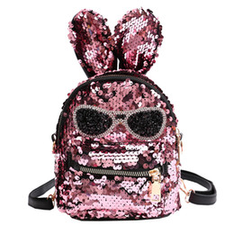 e57db2d4f139 Fashion Cute Girls Sequins Shoulder Bag Student Children School Bag Travel  Backpacks Casual style Backpack  xqx
