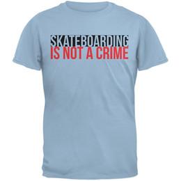 Verbrechen licht online-Skateboarding ist nicht ein Verbrechen Hellblaues erwachsenes T-Shirt Lustiges freies Verschiffen Unisexbeiläufiges T-Stück Geschenk