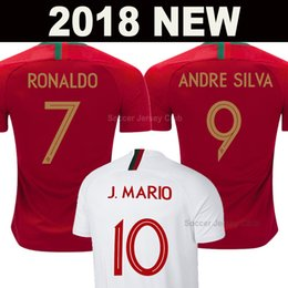2018 Camiseta Portugal de fútbol soccer jersey football shirts RONALDO ANDRE SILVA Copa del mundo PEPE J.MARIO QUARESMA BERNARDO NANI EDER equipo nacional mejor calidad de AAA Tailandia desde fabricantes