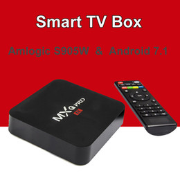 mini pc 4k android Rebajas Android 7.1 TV Box MXQ Pro Amlogic S905W Cuatro núcleos 4k HD 64bit Smart Mini PC 1G 8G Wifi 4K H.265 Google Smart Media Player