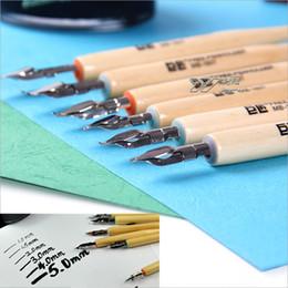 disegni rotondi Sconti LifeMaster Jujiang Pen Pen / Fountain Dip Pen punta rotonda per la calligrafia / Comic Painting / Music Notation Art Design