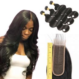 all'ingrosso remy dei capelli all'ingrosso Sconti Cutevirginhair malese dell'onda del corpo 3 fasci con 2x6 chiusura del merletto 100% estensioni dei capelli umani Malese vergine capelli tesse all'ingrosso all'ingrosso